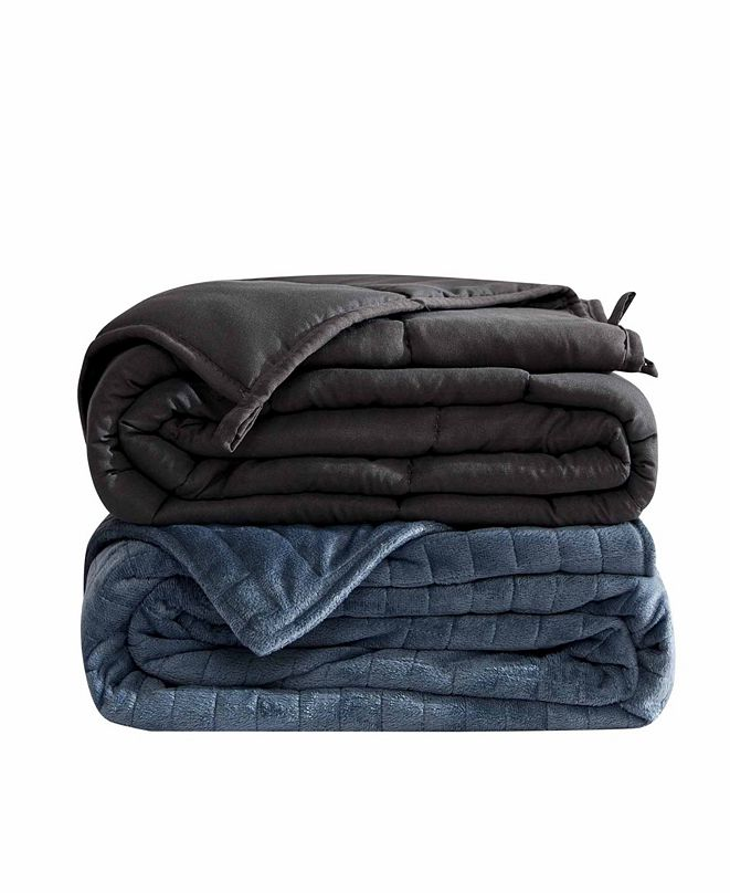 Dream Theory 20lb Microfiber Weighted Blanket with Minky Cover