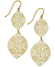 Filigree Double Drop Earrings in Gold-Plate