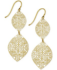 Essentials Filigree Double Drop Earrings in Gold-Plate