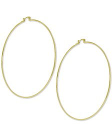 Large Wire Extra Large Hoop Earrings
