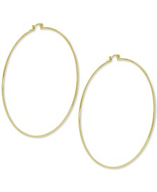 Essentials Large Wire Hoop Earrings