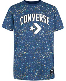 Converse Big Boys Splatter-Print Logo T-Shirt
