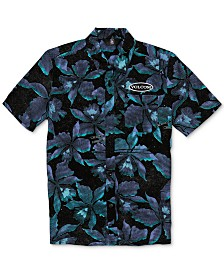 Volcom Big Boys Resorto Vallarta Classic-Fit Floral-Print Shirt