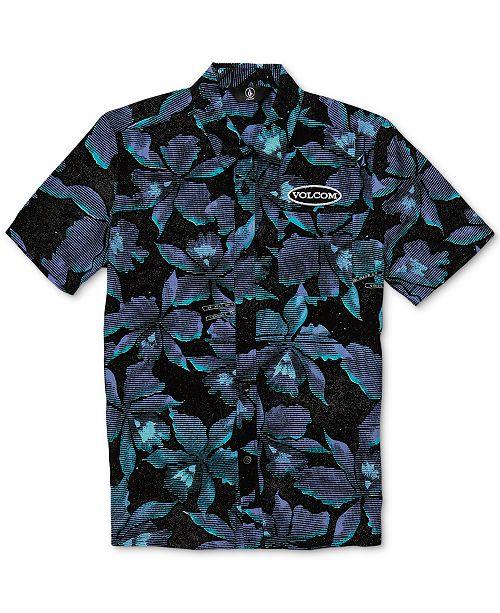 5ec3b2a2f53b03 ... Volcom Big Boys Resorto Vallarta Classic-Fit Floral-Print Shirt ...