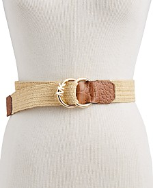 Michael Kors Straw Stretch Belt