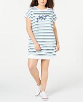 af318b610d Tommy Hilfiger Sport Plus Size Striped Logo Dress
