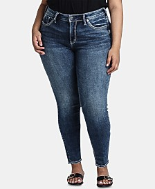 Silver Jeans Co. Plus Size Avery High-Rise Skinny Jeans