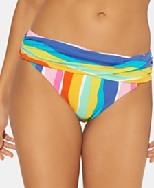 Bleu by Rod Beattie Printed Sarong Hipster Bikini Bottoms