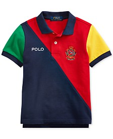 Polo Ralph Lauren Little Boys Colorblocked Cotton Mesh Polo Shirt