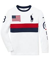 25c65508 Polo Ralph Lauren Big Boys Performance Graphic T-Shirt