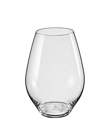 Saloma Stemless Red Wine Glass 19.5 Oz, Set of 6
