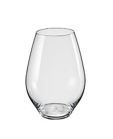 Red Vanilla Saloma Stemless Red Wine Glass 19.5 Oz, Set of 6