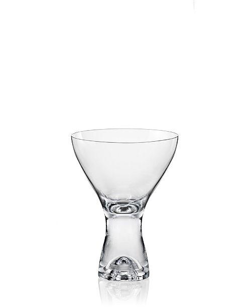 Red Vanilla Samba Martini Dessert Glass 11 Oz, Set of 6