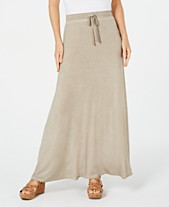 bcfe80db3f4ed3 Style & Co Drawstring Side-Slit Maxi Skirt, Created for Macy's