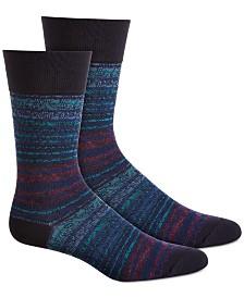 Perry Ellis Men's Striped Socks