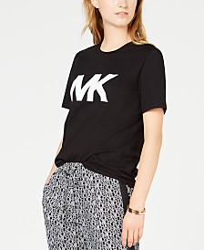 Michael Michael Kors Petite Cotton Studded Logo T-Shirt