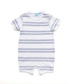 Baby Boy Short Sleeve Striped Romper