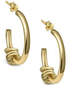Multi-Disc Hoop Earrings in Gold-Plated Sterling Silver