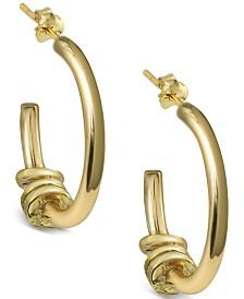Argento Vivo Multi-Disc Hoop Earrings in Gold-Plated Sterling Silver