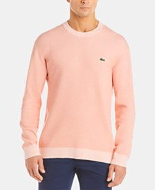Lacoste Men's Bicolor Birds Eye-Knit Sweater