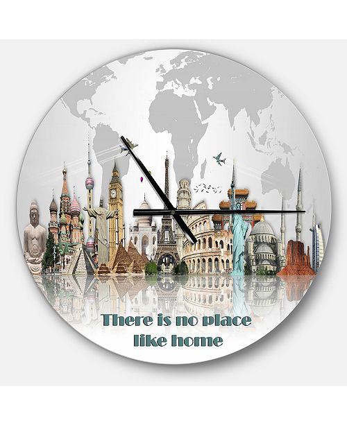 Design Art Designart Oversized Quote Round Metal Wall Clock