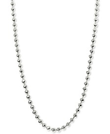 "Beaded 18"" Chain Necklace in 14k White Gold"