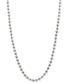 "Alex Woo Beaded 18"" Chain Necklace in 14k White Gold"