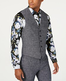 I.N.C. Men's Slim-Fit Linen Vest, Created for Macy's