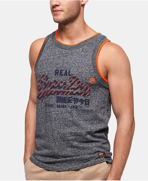 Superdry Men's Logo Graphic Tank Top, Created for Macy's