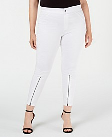 Extreme Zip Hem Denim Leggings, Created for Macy's