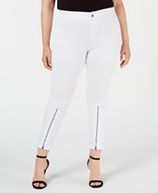 Hue Extreme Zip Hem Denim Leggings, Created for Macy's