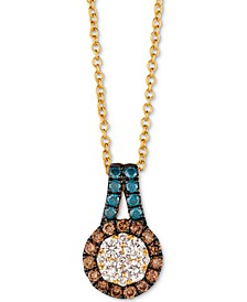 "Exotics® Diamond 18"" Pendant Necklace (1/2 ct. t.w.) in 14k Gold"