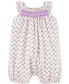 Carter's Baby Girls Printed Cotton Romper