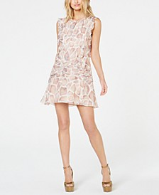 Colette Ruched Ruffled Mini Dress