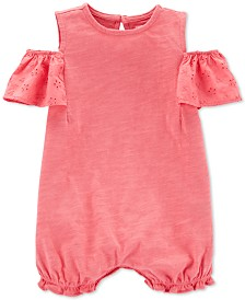 Carter's Baby Girls Cold Shoulder Cotton Romper