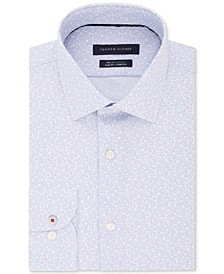 Men's Slim-Fit Non-Iron THFlex Supima® Stretch Floral Print Dress Shirt