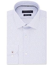 Tommy Hilfiger Men's Slim-Fit Non-Iron THFlex Supima® Stretch Floral Print Dress Shirt