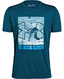 Under Armour Big Boys Photorealistic Baseball Logo Graphic