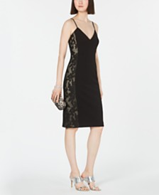 Vince Camuto Lace-Inset Bodycon Dress