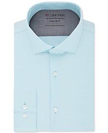 X Men's Extra-Slim Fit Temperature Regulating Stretch Solid Dress Shirt