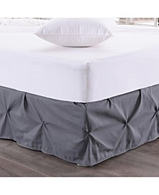 Hudson Pintuck Ruffled King Bedskirt