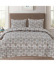 Sweet Home Collection Queen 3-Pc Printed Duvet Cover Set