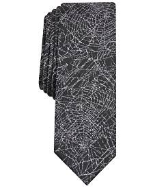 I.N.C. Men's Spider Webs Skinny Tie, Created for Macy's