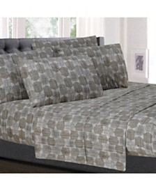 Sweet Home Collection Printed Cal King 6-Pc Sheet Set