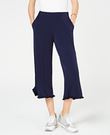 MICHAEL Michael Kors Ruffled Pull-On Pants, Regular & Petite