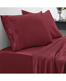 1800 Thread Count Queen 4-Pc Sheet Set