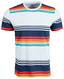 Men's Retro Variegated Striped T-Shirt, Created for Macy's