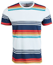 American Rag Men's Retro Variegated Striped T-Shirt, Created for Macy's