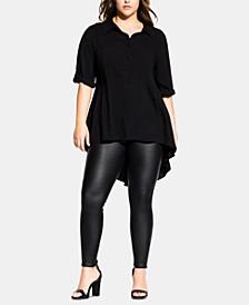Trendy Plus Size Fierce Longline Shirt