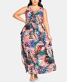 Plus Size Copacabana Sleeveless Maxi Dress